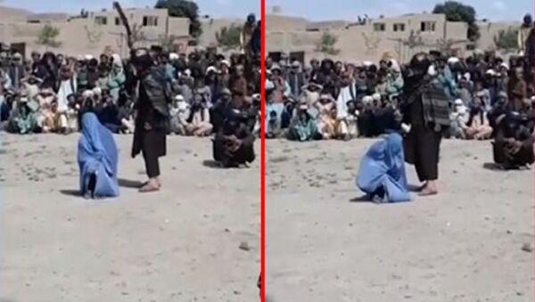 Afganistan'da bir erkekle konuştuğu iddia edilen kadın - Sputnik Türkiye