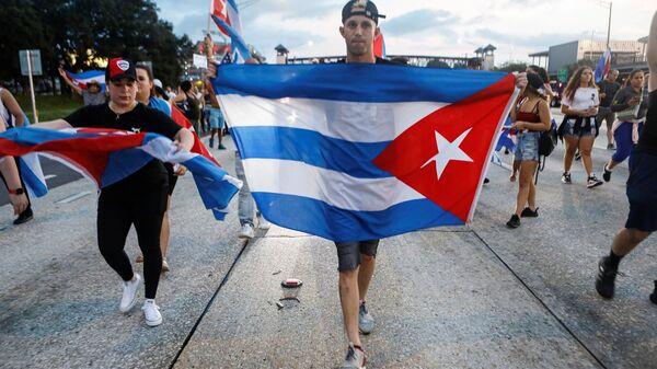 Küba - protesto - Sputnik Türkiye