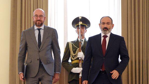 Charles Michel - Nikol Paşinyan - Sputnik Türkiye