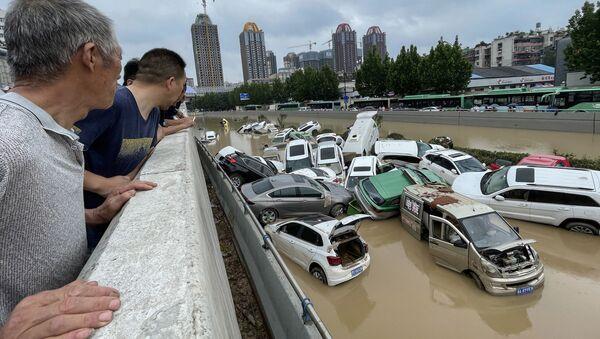 Çin'de sel nedeniyle ölü sayısı 25'e yükseldi - Sputnik Türkiye