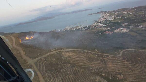 Avşa Adası'nda yangın - Sputnik Türkiye