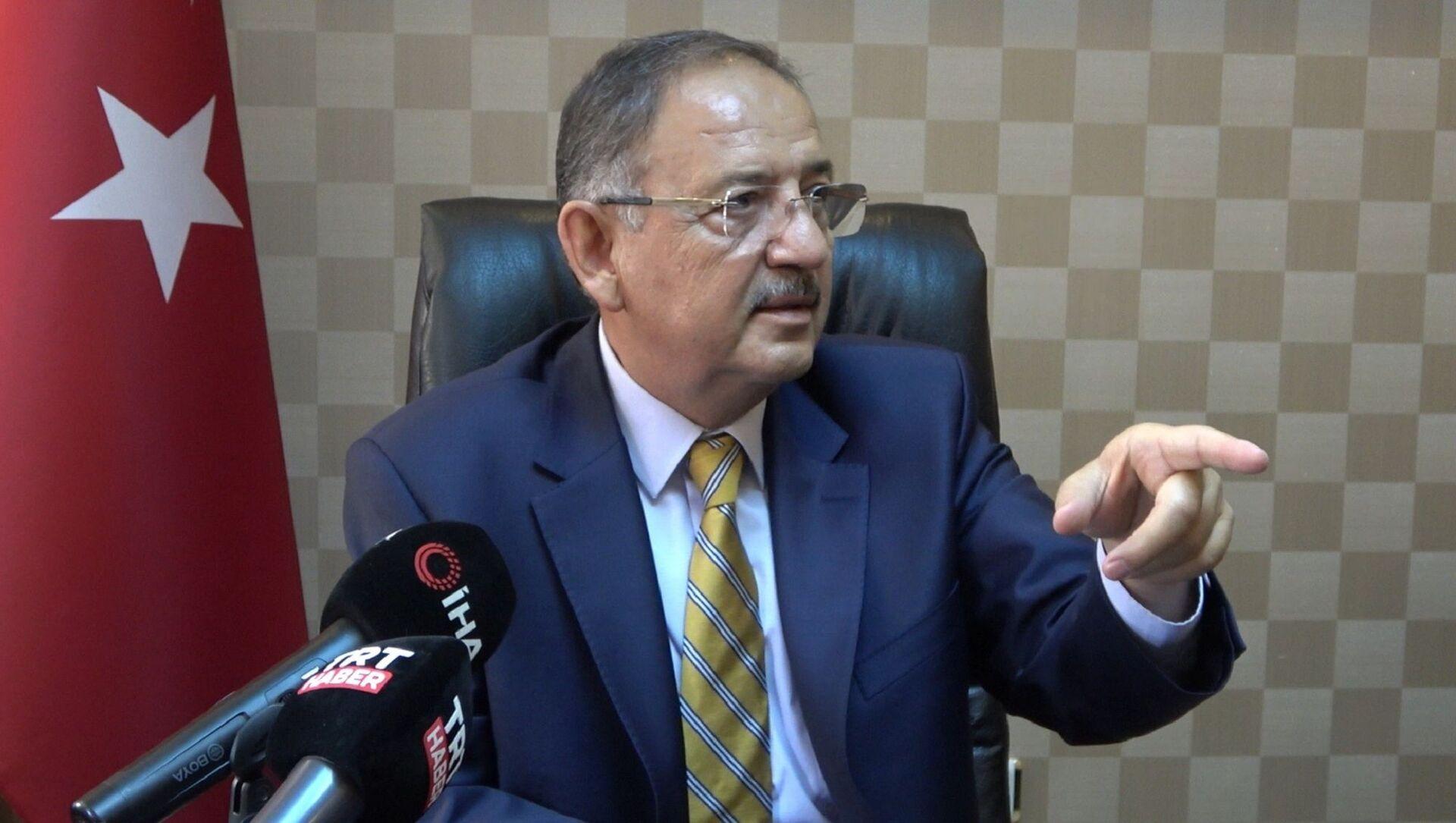 AK Parti Genel Başkan Yardımcısı ve Yerel Yönetimler Başkanı Mehmet Özhaseki, - Sputnik Türkiye, 1920, 30.07.2021