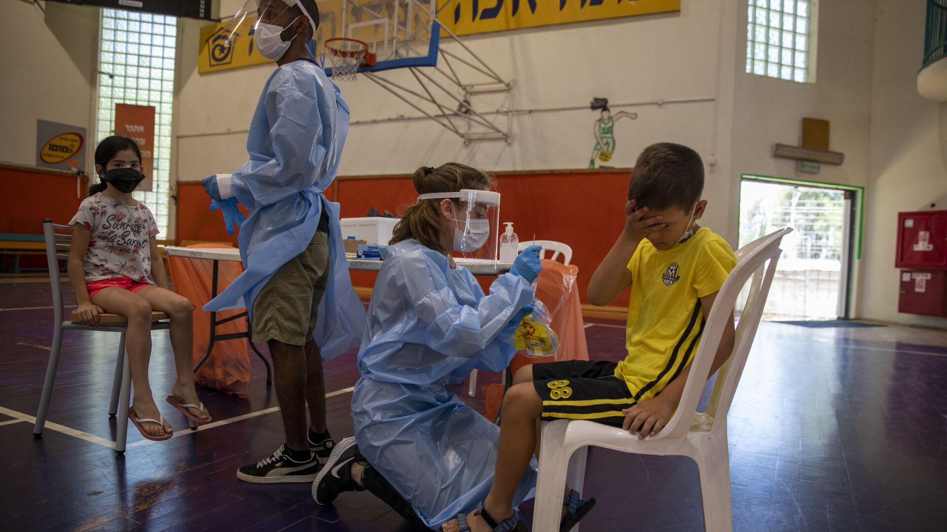 İsrail'de 5-11 yaş arası çocuklara aşı uygulaması başlıyor - Sputnik Türkiye, 1920, 28.07.2021