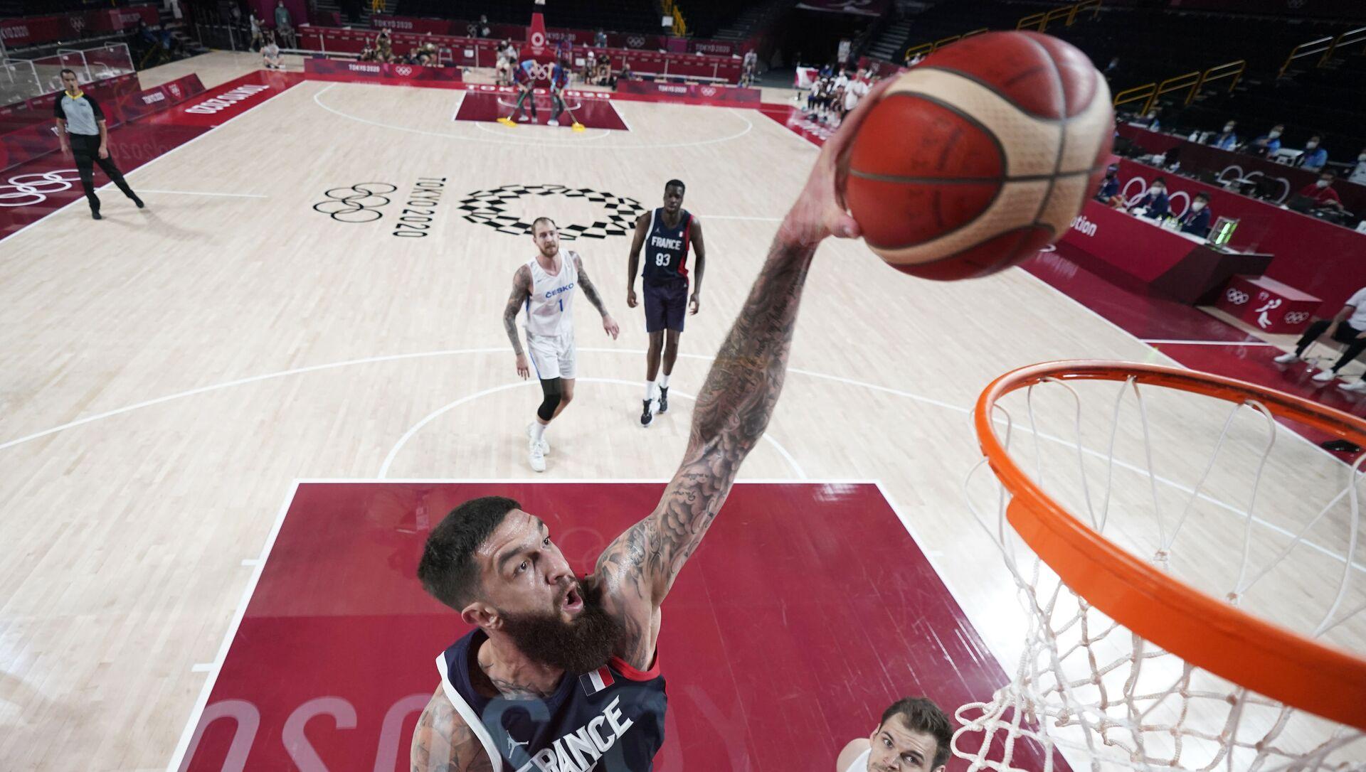 Tokyo 2020 erkek basketbolunda Fransa, çeyrek finale yükselen ilk takım oldu - Sputnik Türkiye, 1920, 28.07.2021