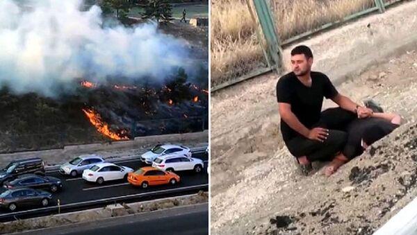 Ankara'da askeriyedeki ormanlık alanı ateşe veren kişi yakalandı - Sputnik Türkiye