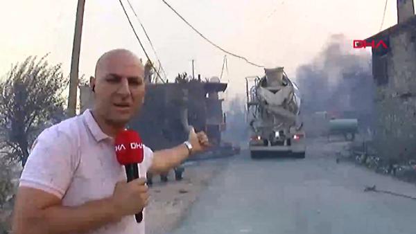 DHA muhabiri canlı yayında büyük tehlike atlattı - Sputnik Türkiye