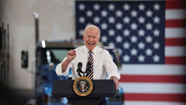 ABD Başkanı Joe Biden, Pensylvania eyaletindeki otomotiv üreticilerini ziyaret ederek konuşma yaptı (28 Temmuz 2021) - Sputnik Türkiye
