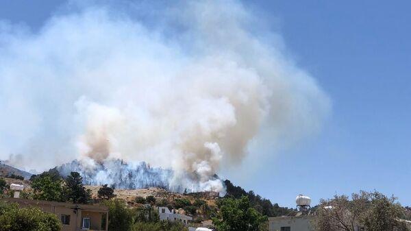 Kuzey Kıbrıs - orman yangını - Sputnik Türkiye
