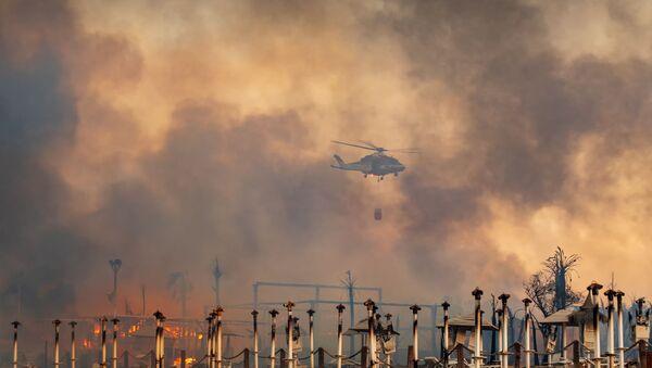 İtalya'nın Sicilya adası başta olmak üzere güney bölgeleri, orman ve kırsal alanlarda çıkan çok sayıdaki yangınla mücadele ediyor. - Sputnik Türkiye