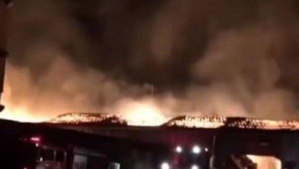 Kahramanmaraş - geri dönüşüm tesisi - yangın - Sputnik Türkiye