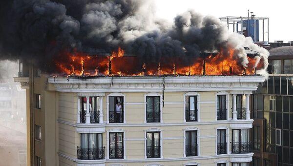 Ankara - Maltepe - otel yangını - Sputnik Türkiye