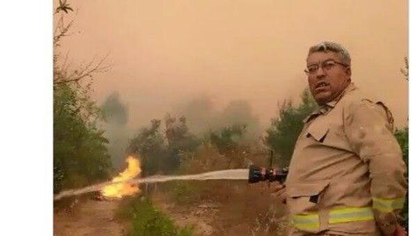 Orman Genel Müdürlüğü, Antalya Manavgat'ın ilçesindeki orman yangınını söndürme çalışmaları sırasında şehit olan orman işçisi Yaşar Cinbaş'ın son görüntülerini paylaştı. - Sputnik Türkiye