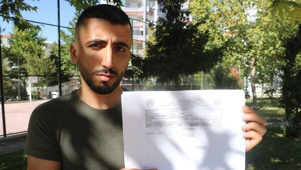 Malatya'da özel bir ilaç firmasında dağıtım görevlisi olarak çalışan 25 yaşındaki Mehmet Cihat Bozkurt - Sputnik Türkiye