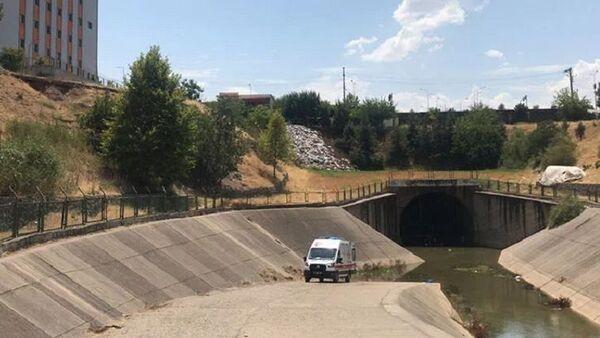 Diyarbakır'da Kerim Yoldaş'ın bulunduğu sulama kanalı - Sputnik Türkiye