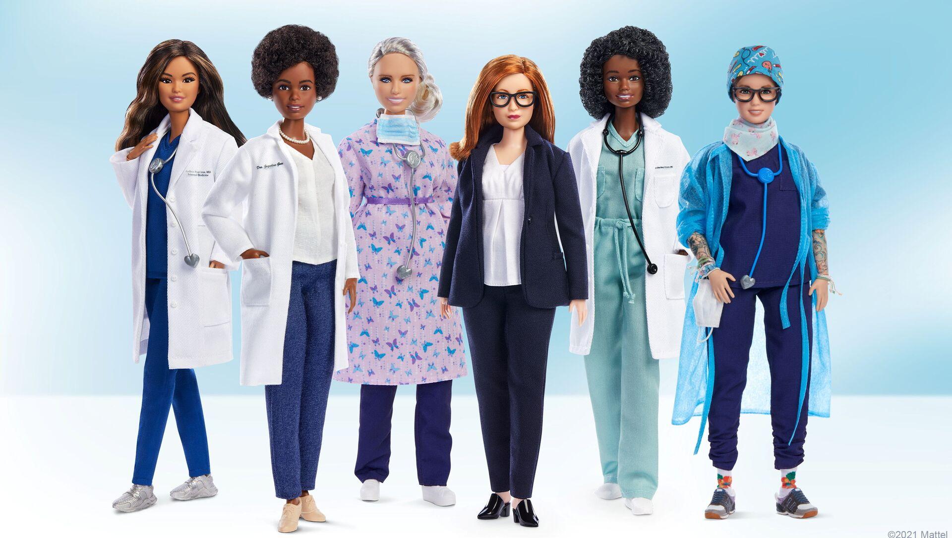 Oyuncak şirketi Mattel, tıp ve sağlık alanında öne çıkan 6 kadın için Barbie 'rol model' serisini çıkardı. - Sputnik Türkiye, 1920, 04.08.2021