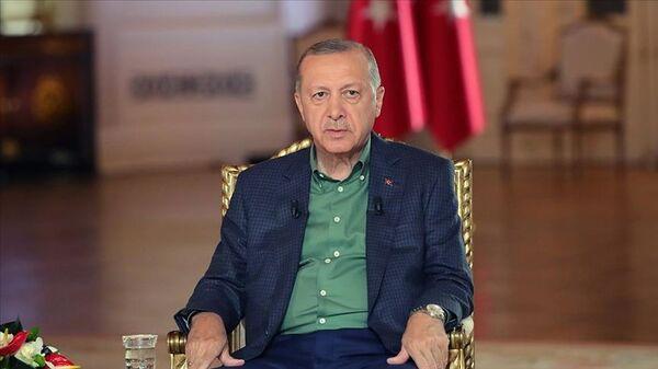Erdoğan, A Haber Ortak yayını 4 Ağustos 2021 - Sputnik Türkiye