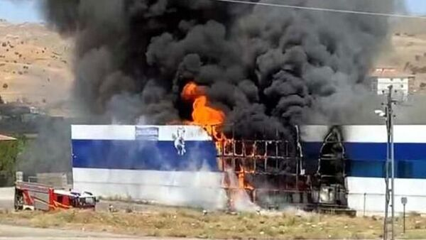 Ankara'da fabrika yangını - Sputnik Türkiye