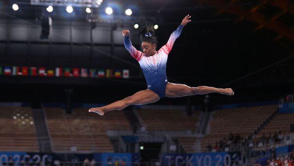 Simone Biles, Tokyo Olimpiyatı denge aleti finali - Sputnik Türkiye