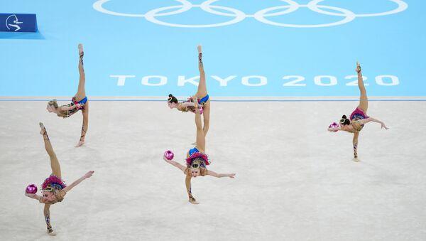 Rus milli ritmik jimnastik takımı TOKYO 2020 - Sputnik Türkiye