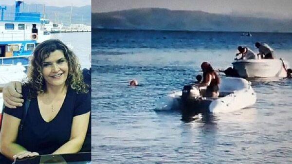 Denizde yüzerken sürat teknesinin çarptığı kadın Elvan Fırat Taşdöğen - Sputnik Türkiye