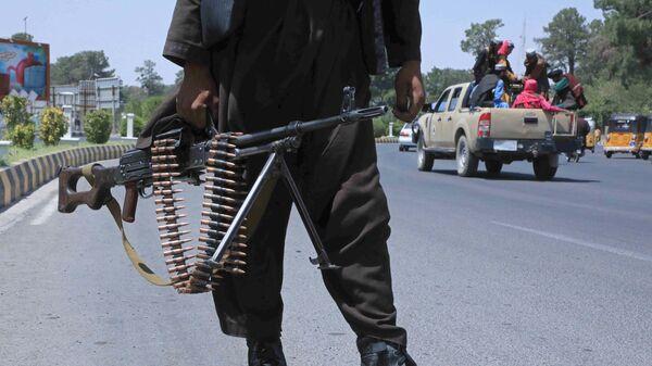 Боевик Талибана* на улице в афганском городе Герат - Sputnik Türkiye