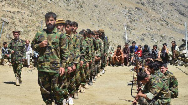 Афганское движение сопротивления во время учений в провинции Панджшер, Афганистан - Sputnik Türkiye