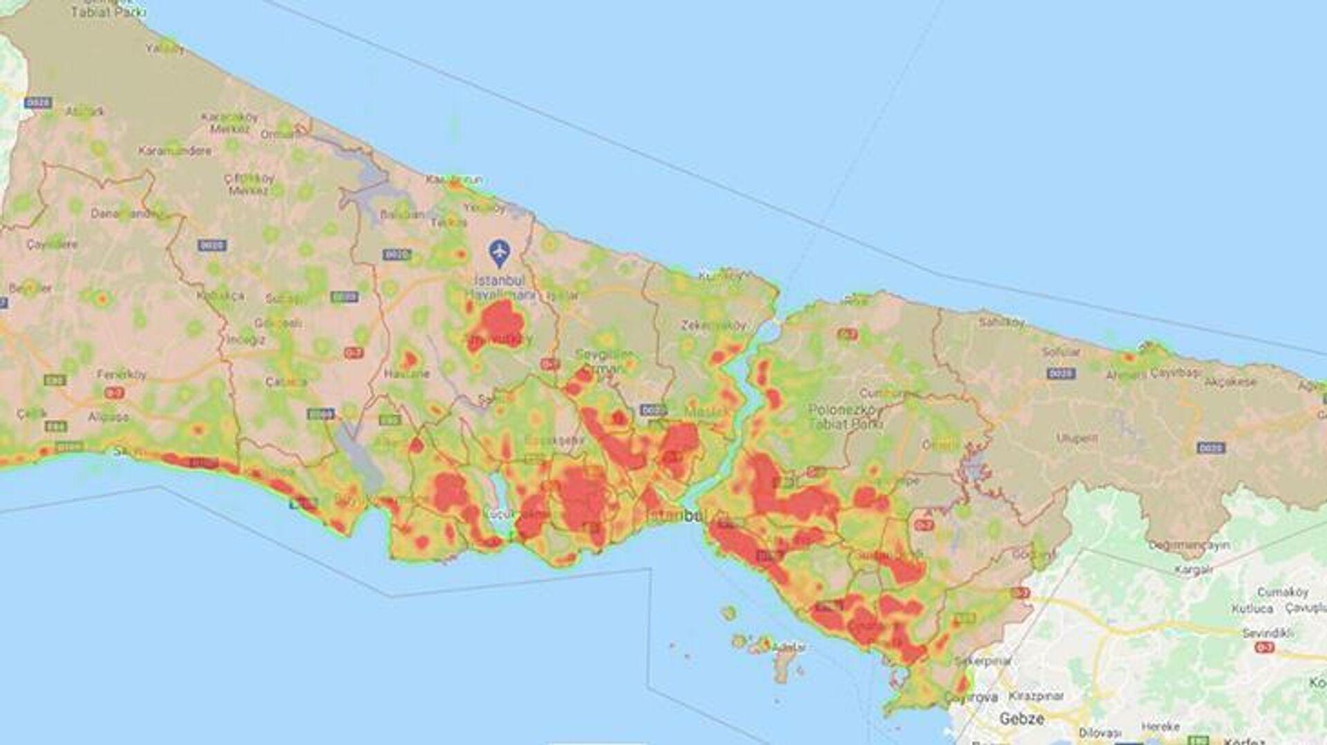 sivrisinek haritası - Sputnik Türkiye, 1920, 02.09.2021
