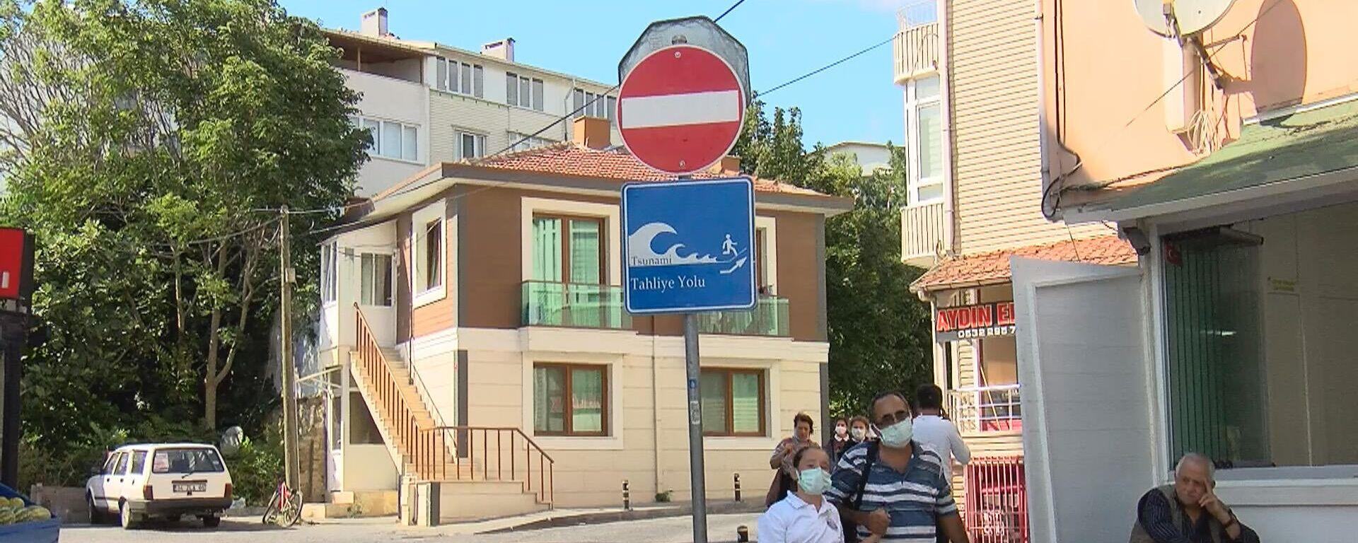 İstanbul, tsunami tabelası - Sputnik Türkiye, 1920, 09.09.2021