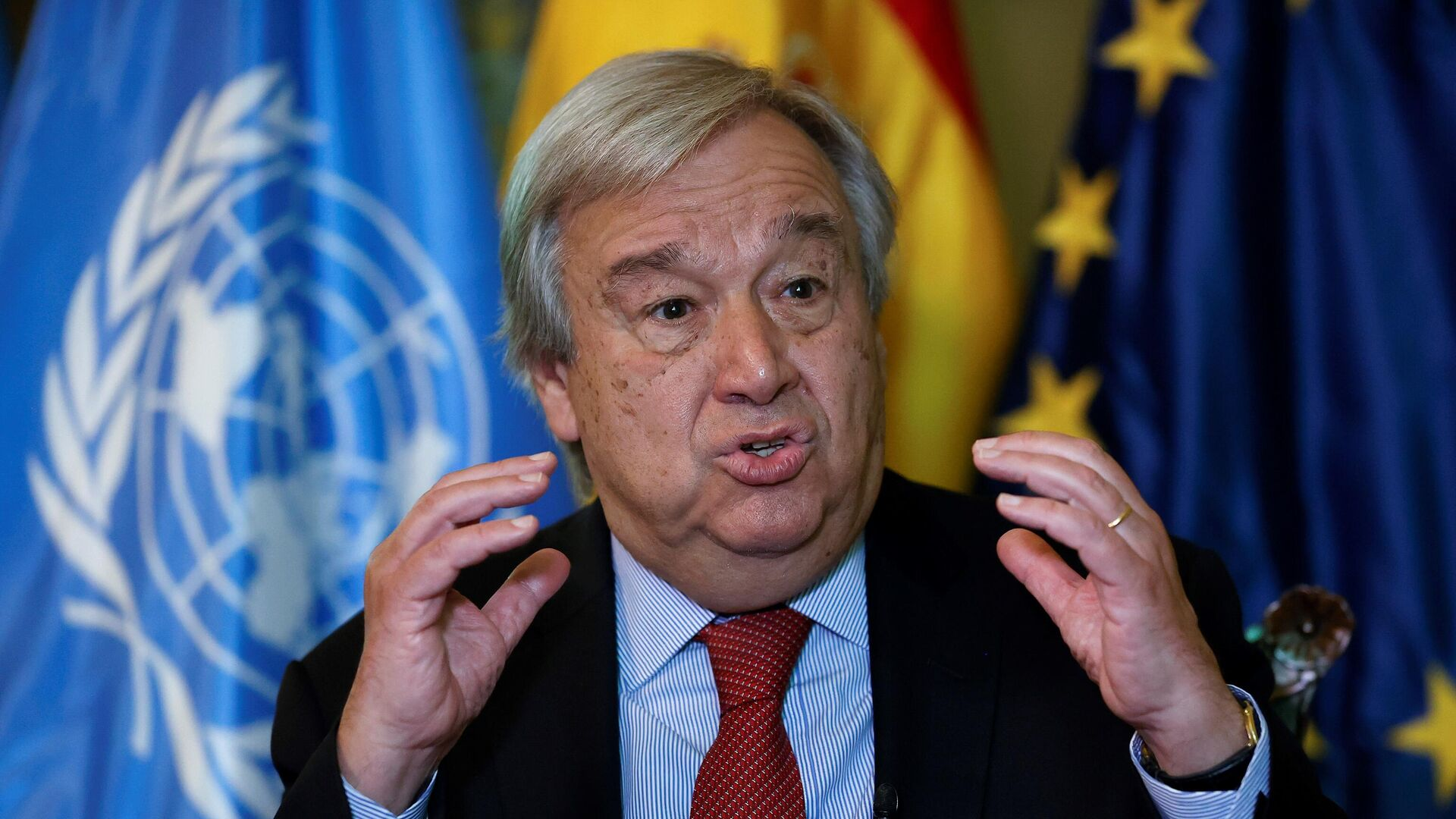 Birleşmiş Milletler (BM) Genel Sekreteri Antonio Guterres - Sputnik Türkiye, 1920, 20.09.2021