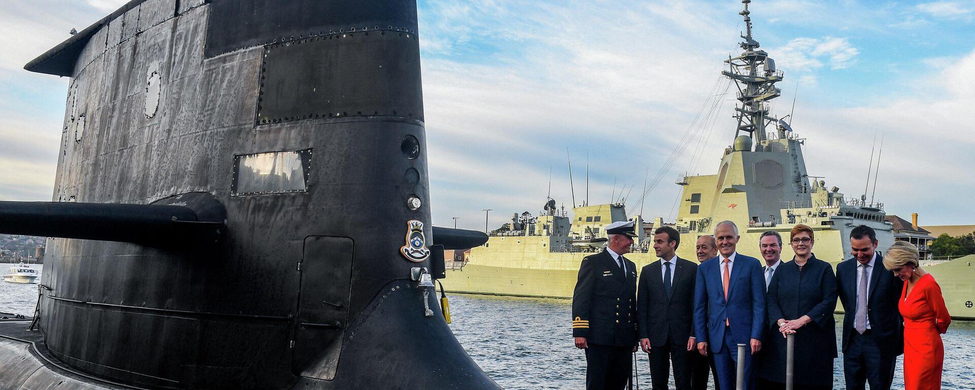 Avustralya ve Fransa arasındaki denizaltı anlaşması- Emmanuel Macron - Sputnik Türkiye, 1920, 16.09.2021
