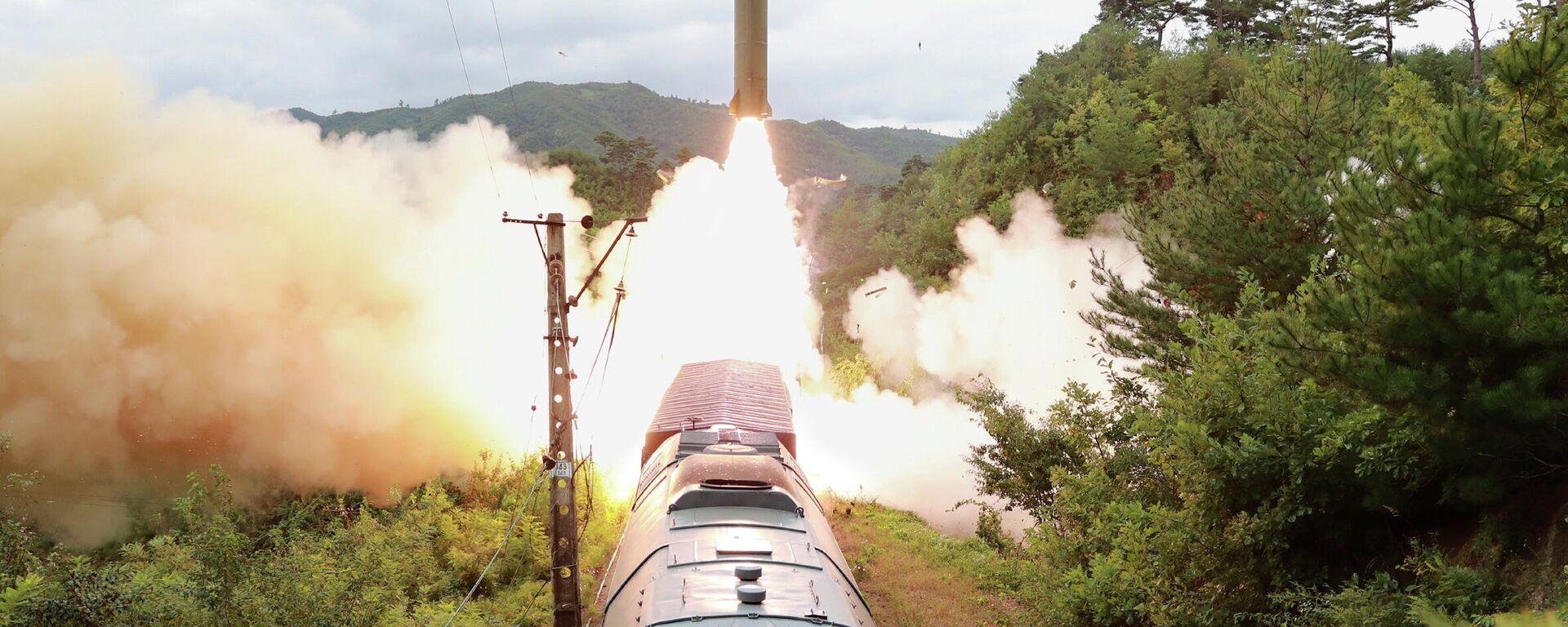 Kuzey Kore trenden füze fırlattı - Sputnik Türkiye, 1920, 17.09.2021