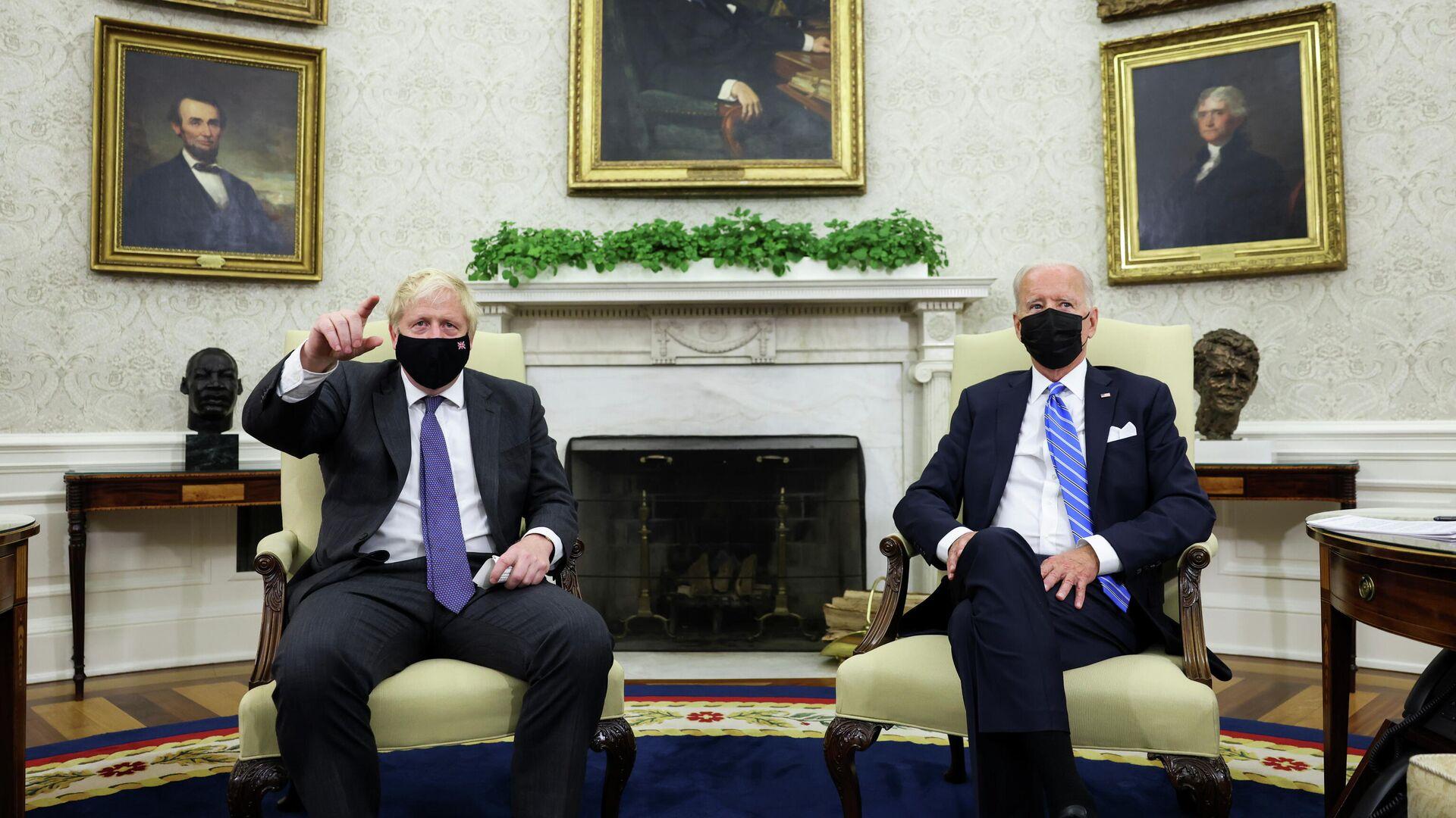 İngiltere Başbakanı Boris Johnson, Beyaz Saray'da ABD Başkanı Joe Biden ile bir araya geldi. - Sputnik Türkiye, 1920, 22.09.2021