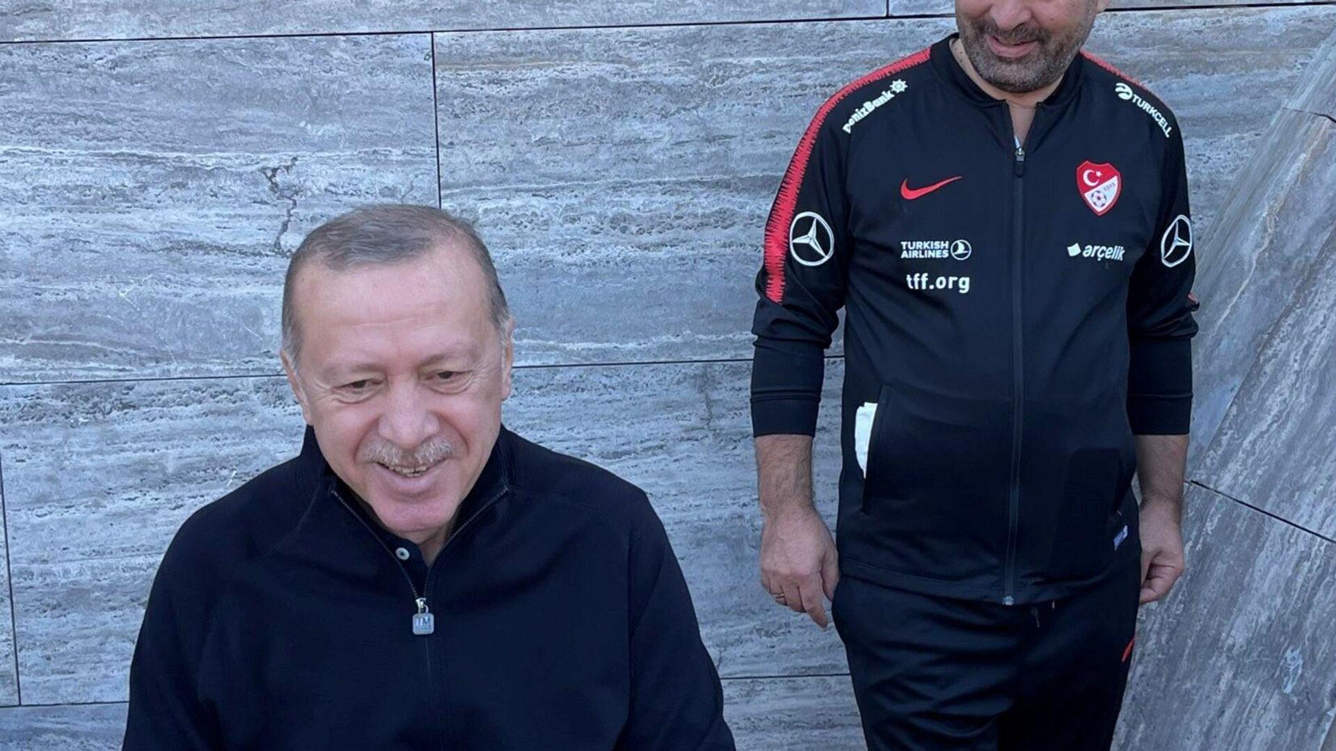 Cumhurbaşkanı Erdoğan'ın sabah sporu - Sputnik Türkiye, 1920, 28.09.2021