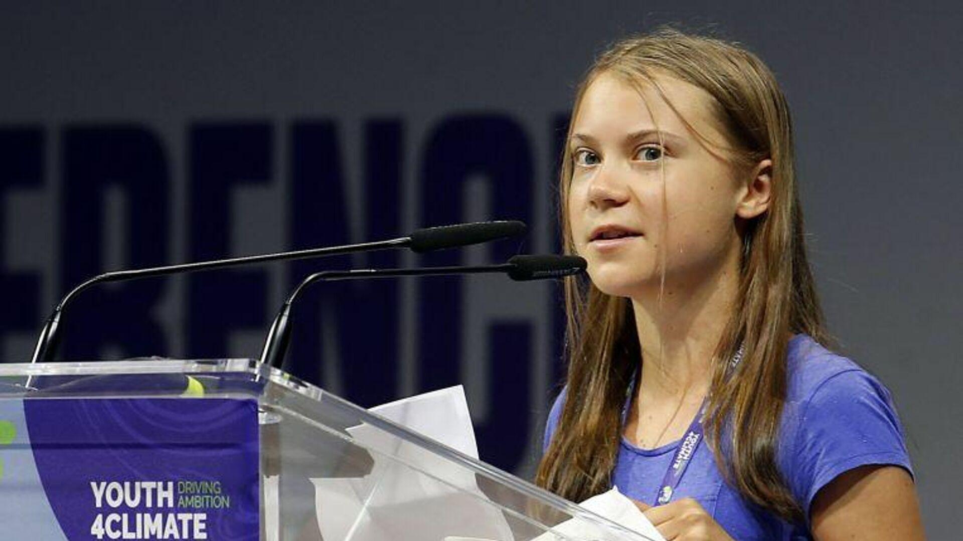 Çevre aktivisti Greta Thunberg, dünya liderlerini 'boş vaatler vermekle' suçladı - Sputnik Türkiye, 1920, 28.09.2021