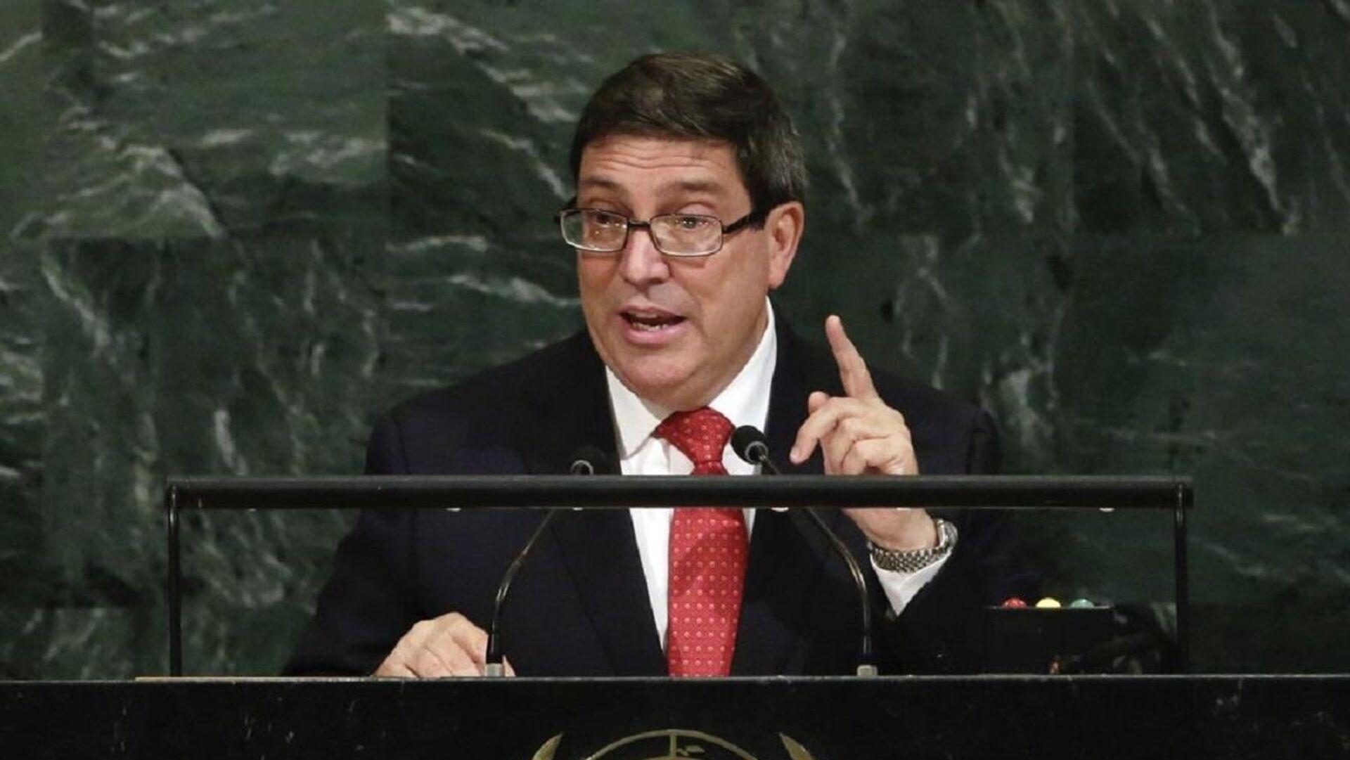 Küba Dışişleri Bakanı Bruno Rodríguez Parrilla - BM Genel Kurulu - Sputnik Türkiye, 1920, 29.09.2021
