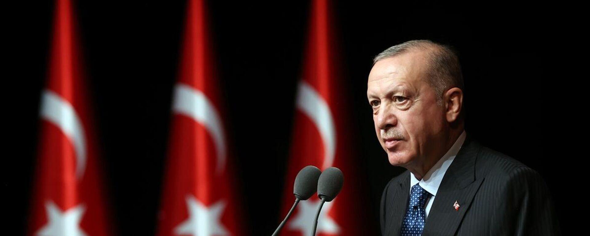 Cumhurbaşkanı Recep Tayyip Erdoğan, 2021-2022 Yükseköğretim Akademik Yıl Açılış Töreni'nde konuştu. - Sputnik Türkiye, 1920, 07.10.2021