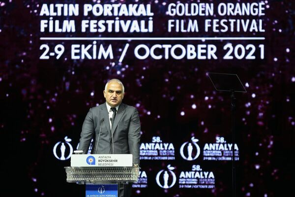 Kültür ve Turizm Bakanı Mehmet Nuri Ersoy, törende konuşma yaptı.  - Sputnik Türkiye