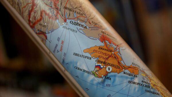 Kırımı'ı Rusya'nın bölgesi olarak gösteren harita  - Sputnik Türkiye