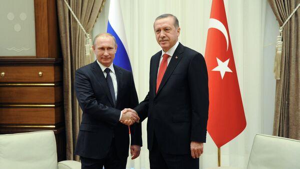 Rusya Devlet Başkanı Vladimir Putin ve Türkiye Cumhurbaşkanı Recep Tayyip Erdoğan - Sputnik Türkiye