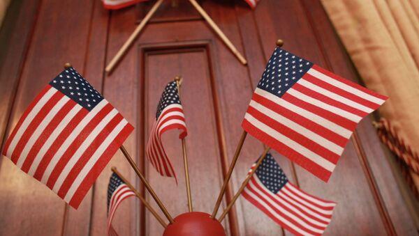 ABD bayraklar. Büyükelçilik'te - Sputnik Türkiye
