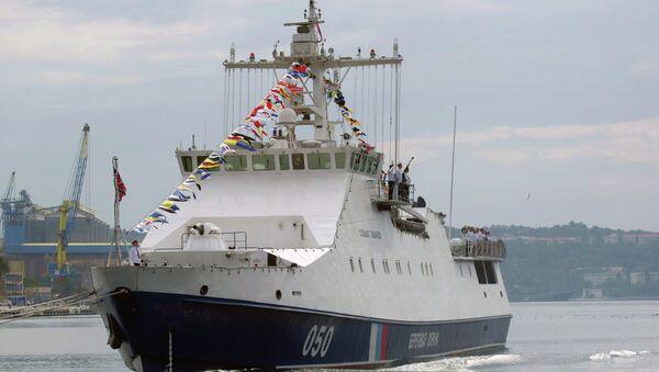Sivastopol'da bir gemi - Sputnik Türkiye