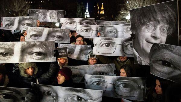 Charlie Hebdo protestosu - Sputnik Türkiye