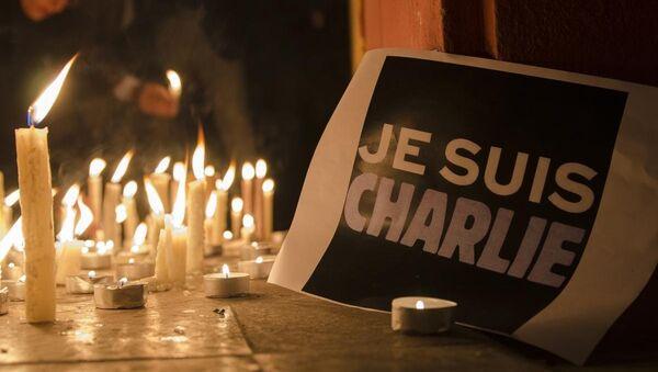 Charlie Hebdo için anma  yürüyüşleri - Sputnik Türkiye