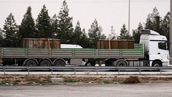 Adana'da durdurulan MİT'e ait tırlar - Sputnik Türkiye