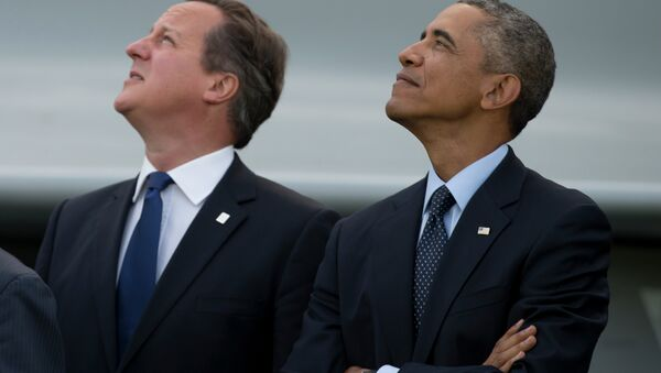 ABD Başkanı Barack Obama ve İngiltere Başbakanı David Cameron - Sputnik Türkiye