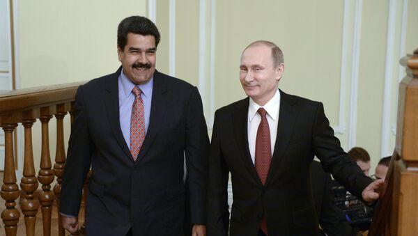 Rusya Devlet Başkanı Vladimir Putin ve Venezuella Devlet Başkanı Nikolas Maduro - Sputnik Türkiye