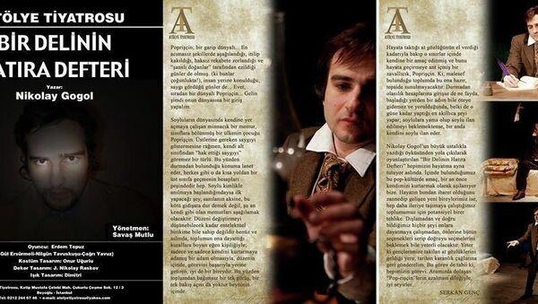 Atölye Tiyatrosu sahnesinde Nikolay Gogol - Sputnik Türkiye