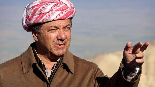 Irak Kürt Bölgesel Yönetimi Başkanı Mesud Barzani - Sputnik Türkiye