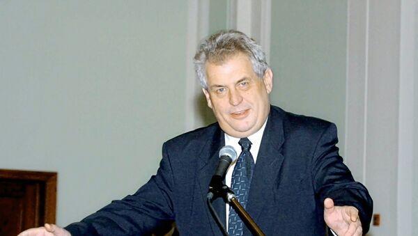 Çek Cumhuriyeti (Çekya) Başkanı Milos Zeman - Sputnik Türkiye
