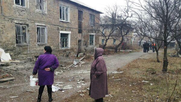 Top saldırısı sonrası Donetsk - Sputnik Türkiye